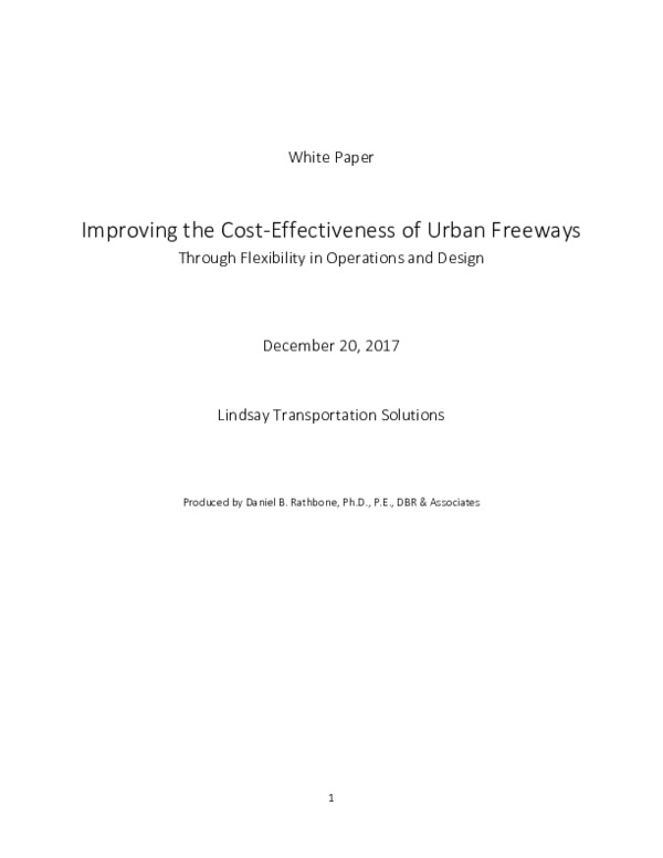 White Paper on Flexibility for Freeways | Road Zipper