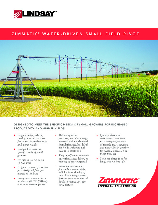 7500WD Small Field Pivot Brochure