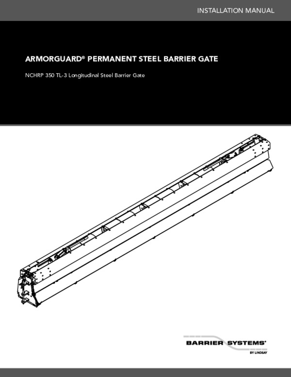 ArmorGuard Barrier Gate