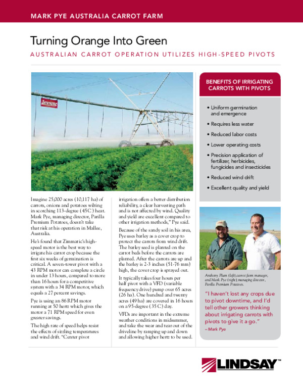 Mark Pye Australia Carrot Farm Case Study