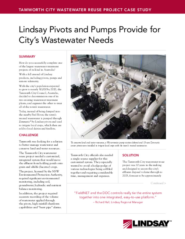 Tamworth City Wastewater Reuse Project