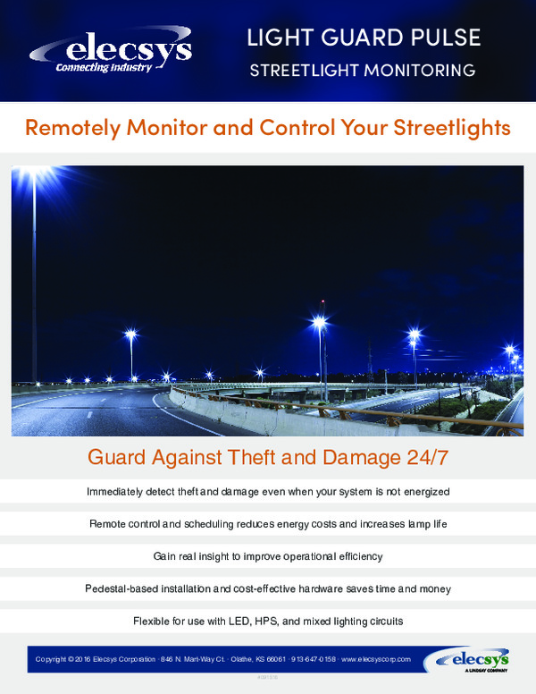 Light Guard Pulse Streetlight Monitoring