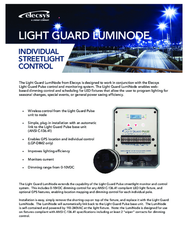 Light Guard Luminode Individual Streetlight Control