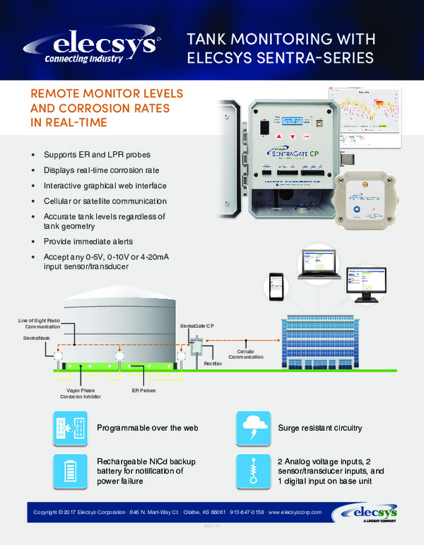 Tank Monitoring With Elecsys Sentra-Series