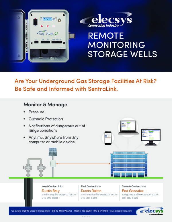 Remote Monitoring Storage Wells