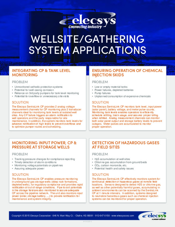 Wellsite/Gathering System Applications