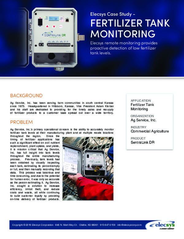 Fertilizer Tank Monitoring