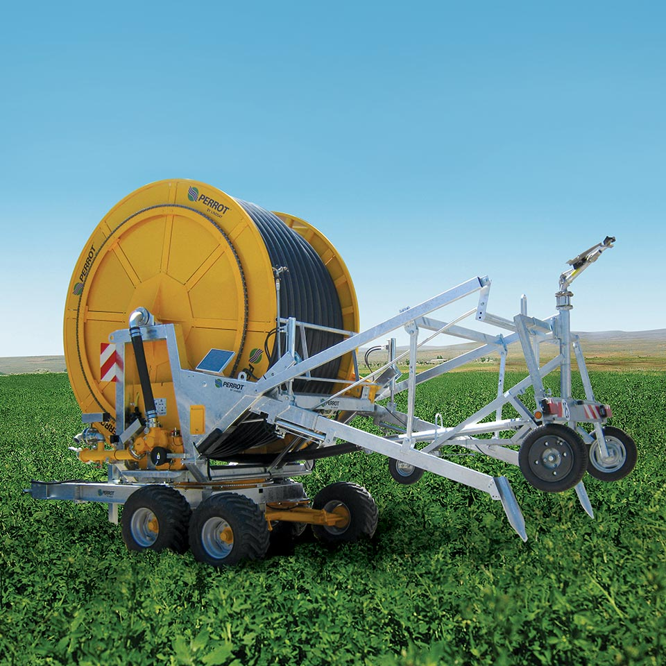 Hose reels designed for European agriculture.