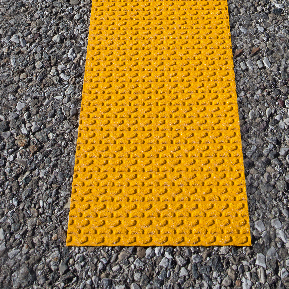 Temporary pavement marking tape for any road.